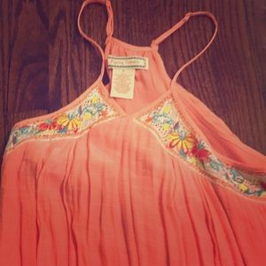 Flying tomato peach maxi dress